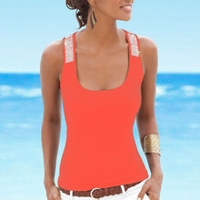 Blush Sequined racerback tank top
