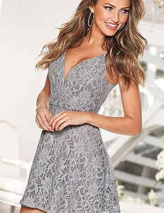 Adore Me In Lace Fit & Flare Dress