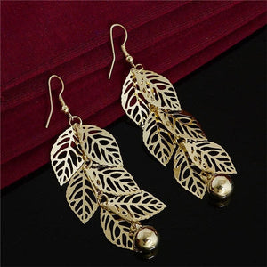 Feathered Leaf Earring
