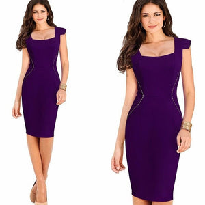 Emily Cap Sleeve Waist Detail Dress