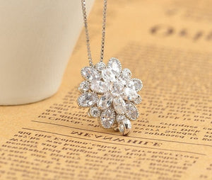 Elegant Flower Necklace/Pendant