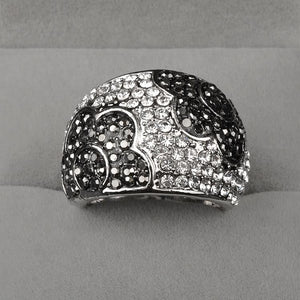 Fiore Austrian Crystal Pave Cocktail Ring