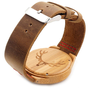 Men's Wooden Bamboo Watch // Buck Head