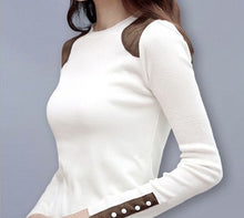 Winter White Long Sleeve Pull Over Sweater