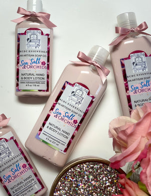 Sea Salt & Orchids ~ Natural Hand & Body Lotion