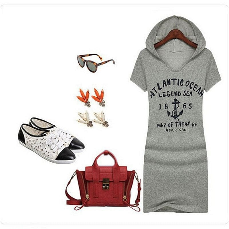 Fair Weather Hoodie Dress