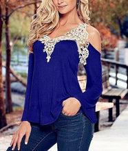 Striking Crochet V neck Cold Shoulder top