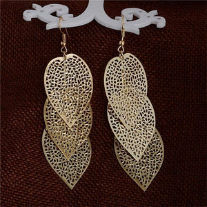 Filigree Layered Leaf Earring