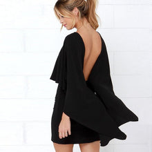 Freely Chic Backless Cape Bodycon Dress