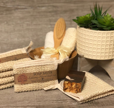 Exfoliating Natural Sisal Wash Cloth~ Soap Saver