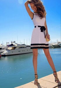 Belted Flirty Fit & Flare Dress