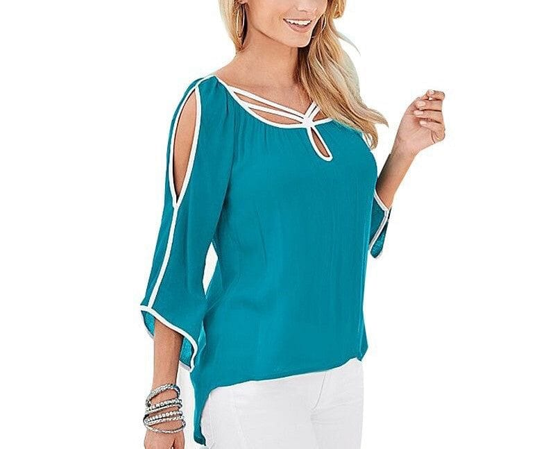 Bella Tunic Cold Shoulder Top