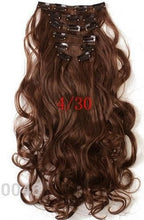 20inch 7pcs/set Natural Wavy Style Synthetic Clip In Hair Extensions
