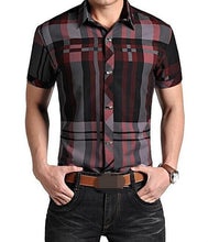 Men's Short Sleeve Plaid Shirt