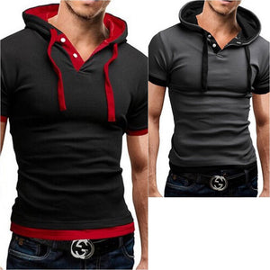 Men's Slim Fit Hooded Tee Shirt