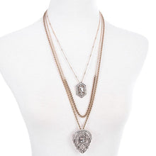 Layered Geometric Pendant & Necklace