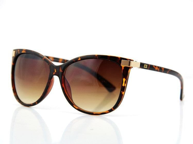 AeVogue Cat-Eye Gold Tone Sunglasses