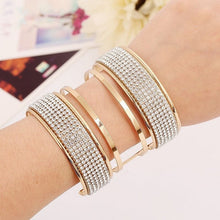 Cutout Crystalized Cuff Bracelet