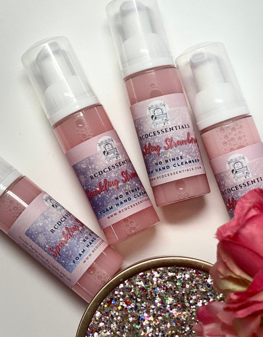 Travel Size Sparkling Strawberry  ~ No Rinse Foaming Hand Wash Cleans Hands Without The Use Of Water!