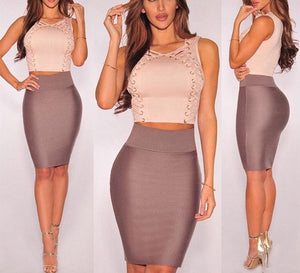 Julissa Mo Bandage Two Piece Bodycon dress