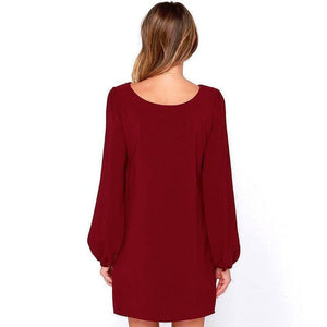 Alice Long Sleeve Mini Shift Dress
