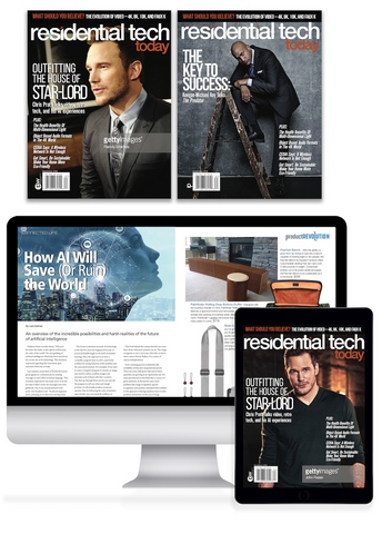 1 Year Print & Digital Residential Tech Today Magazine