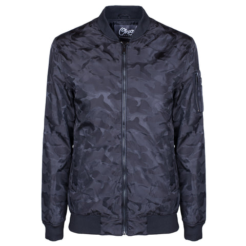 Hayworth Bomber Jacket - Black Camo