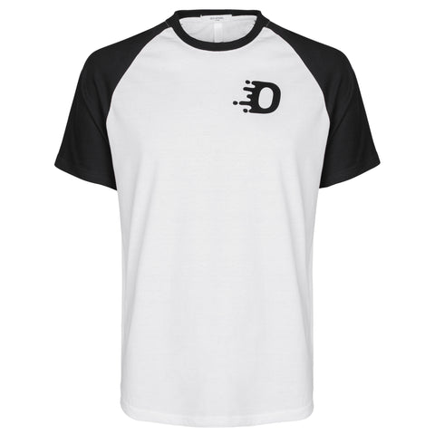 Iconic Baseball Tee - White/Black