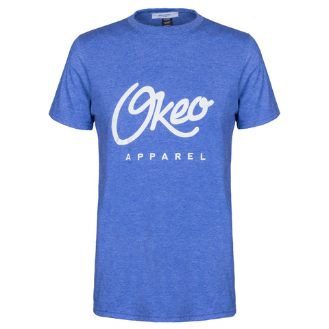Classic Okeo Tee - Heather Blue