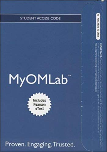 Access MyOMLab w/etxt for principles of operations management