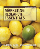 Marketing Research Essentials: Canadian Edition