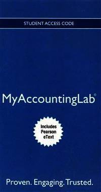 Acc Myaccountinglab & Etxt For Managerial Accounting