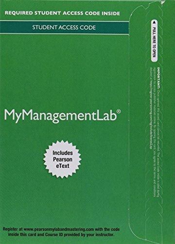 Access My ManagementLab& Etext Organizational Behavior 17th ed