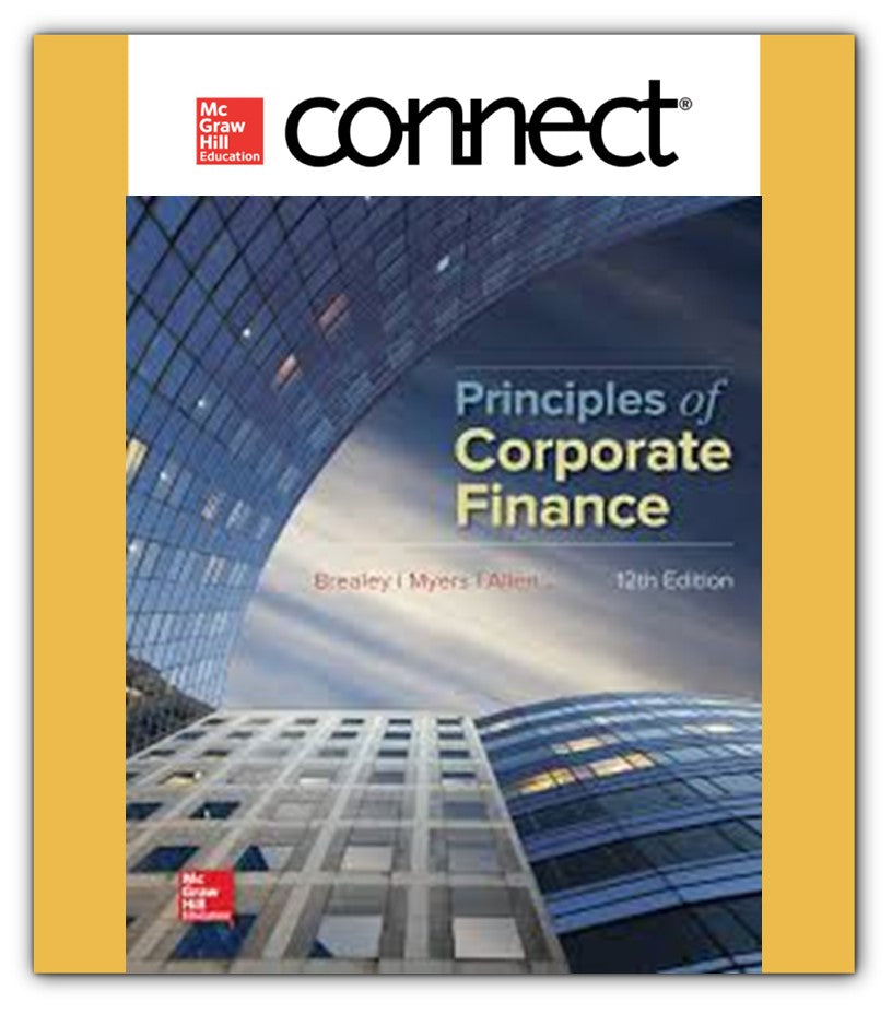 Connect 1-semester online access for Principles of Corporate Finance (ITESM)