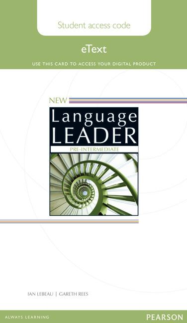 New Language Leader Pre-Intermediate (Tecmilenio Campus Online)