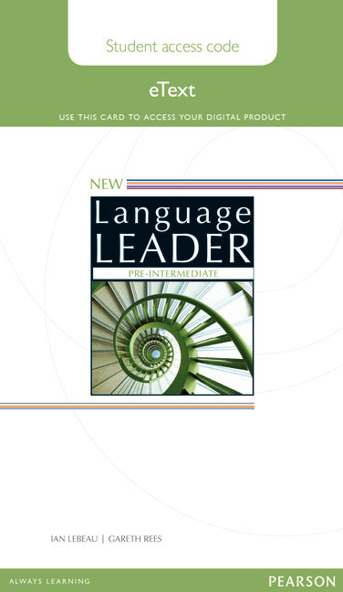 New Language Leader Pre-Intermediate Lebeau, I. & Reed, G. 9781447961536 Pearson