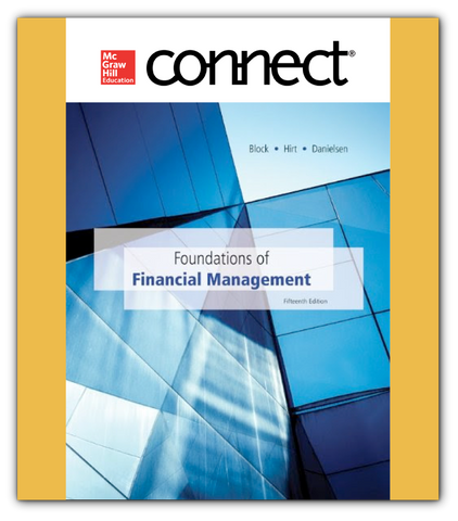 Connect 1-Semester Online Access For Foundations Of Financial Management