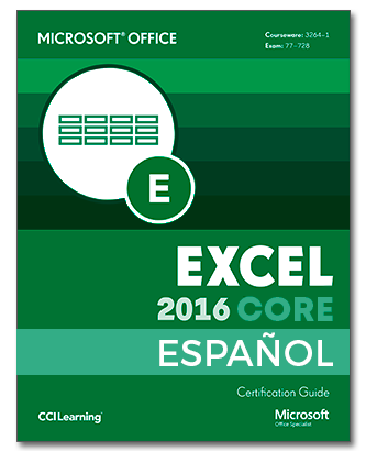ESPAÑOL Certipack Microsoft Office Excel Core 2016