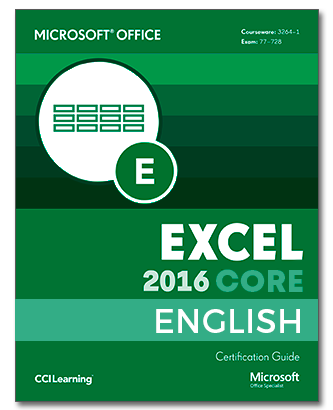 ENGLISH Certipack Microsoft Office Excel Core 2016
