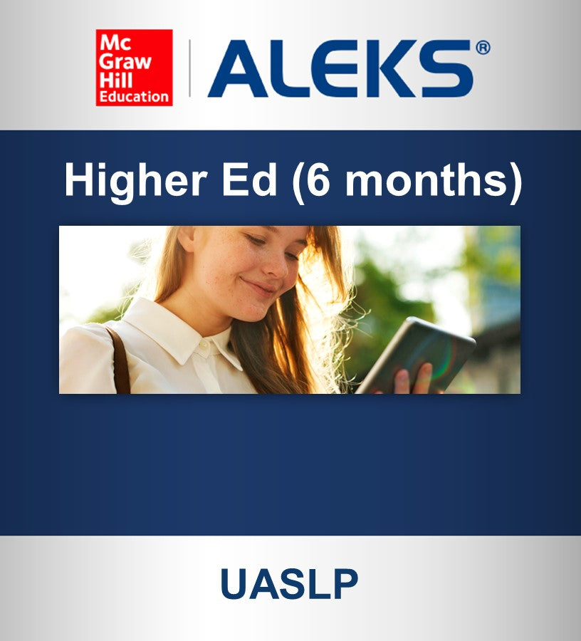 ALEKS Higher Ed (6 meses) UASLP