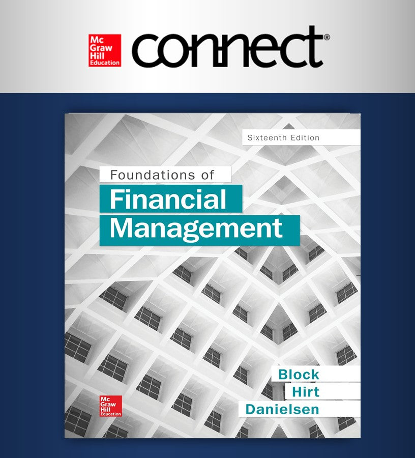 Connect 1-Semester Online Access For Foundations Of Financial Management (UDEM)