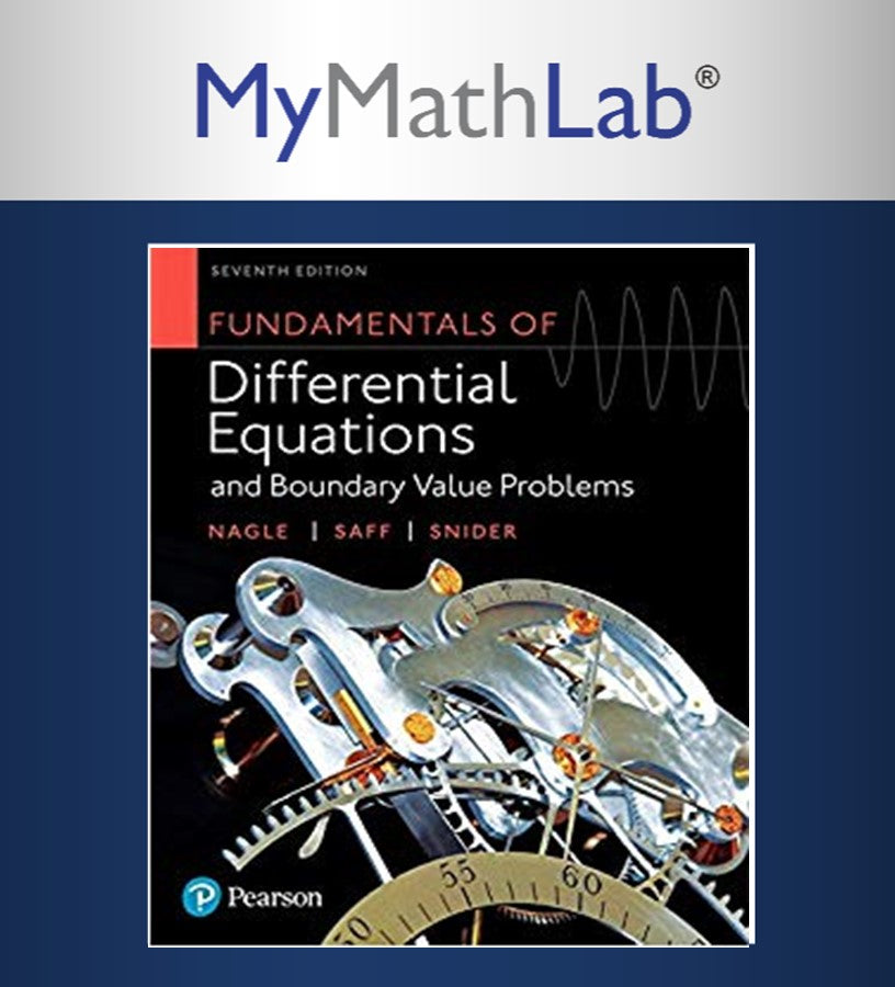 MyMathLab & etext Fundamental of Differential Equations & Boundry Value Problems