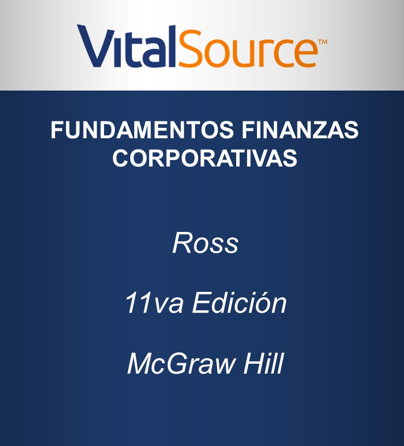 Vs-Ebook Fundamentos de Finanzas Corporativas 11va Ed.