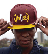 Snapback Cap - Burgundy/Yellow
