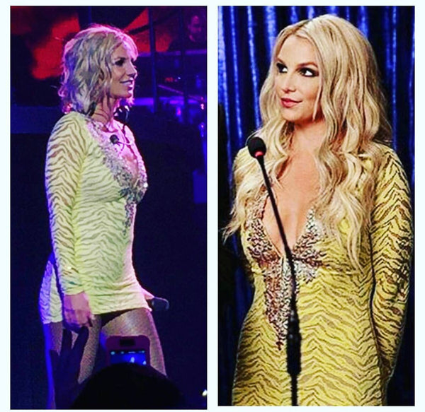 Brittney Spears Wearing Baccio Couture at Las Vegas Concert