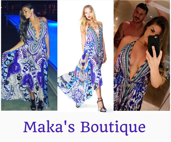 Brittany Cartwright from the Vanderpump Rules wearing Parides Dress from Maka's Boutique!