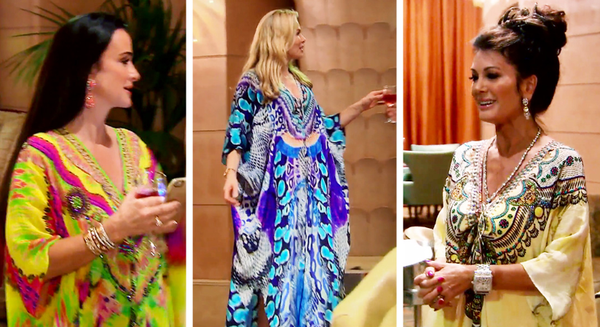 The Real Housewives of Beverly Hills Wearing Parides Kaftans in Dubai