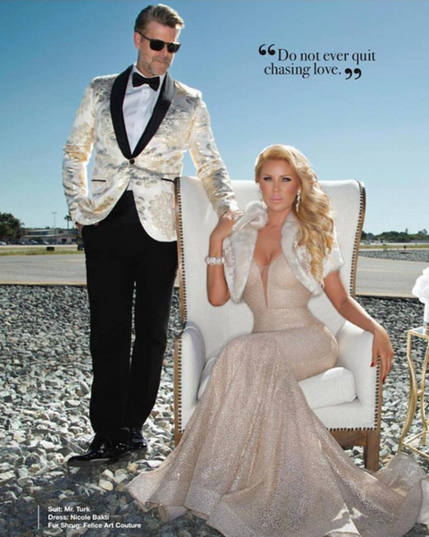 Gretchen Rossi Featured in Amare Magazine Spread Wearing Nicole Bakti Gown