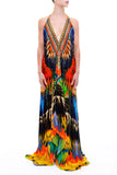 3 Way Tropical Parides Maxi Dress