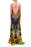 Dark Macaw 3 Way Tropical Parides Maxi Dress